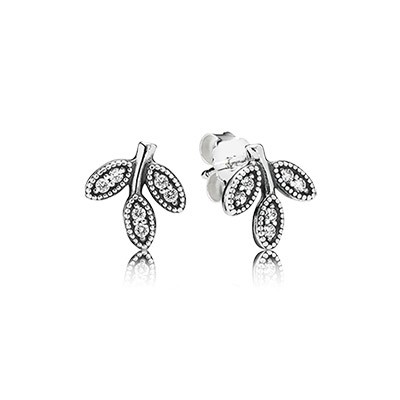Pandora Earring Sparkling Leaves 290564Cz