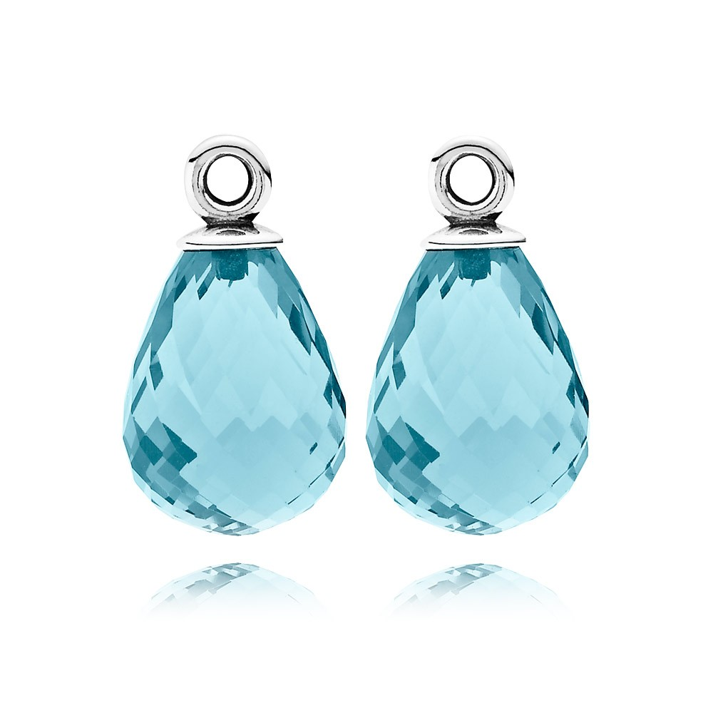 Pandora Earring Ice Blue Murano Glass