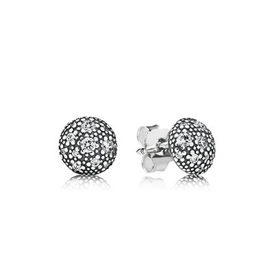 PANDORA Cosmic Stars with Clear CZ Stud Earrings