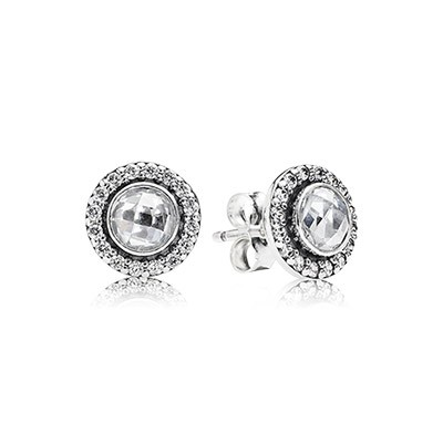 PANDORA Brilliant Legacy with Clear CZ Stud Earrings