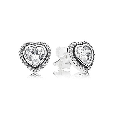 PANDORA Sparkling Love with Clear CZ Stud Earrings