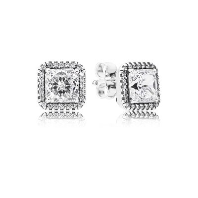 PANDORA Timeless Elegance with Clear CZ Stud Earrings