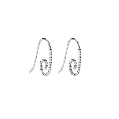 Pandora Paperclip Ball Earrings Silver