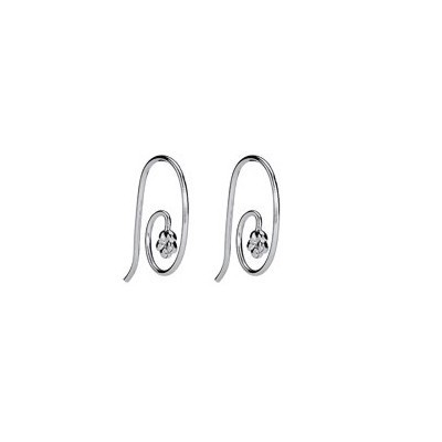 Pandora Paperclip Flowers Earrings Silver