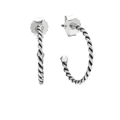 Pandora Small Twist Hoop Earrings