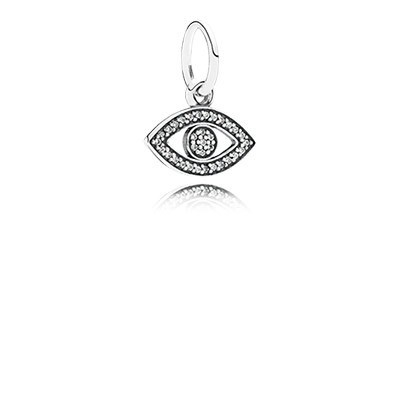PANDORA Symbol of Insight Evil Eye with Clear CZ Pendant