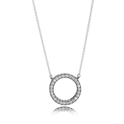 PANDORA Hearts Of PANDORA With Clear CZ Necklace