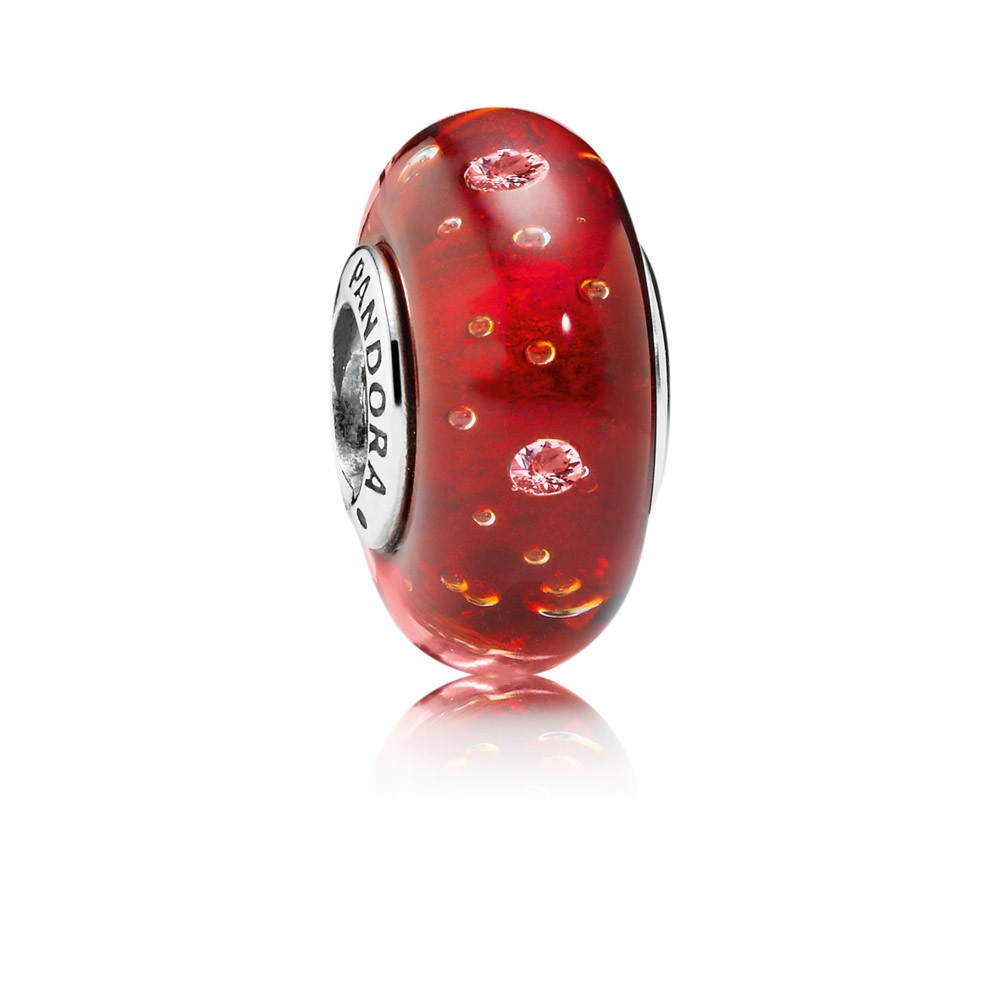 Pandora Red Effervescence, Clear Cz