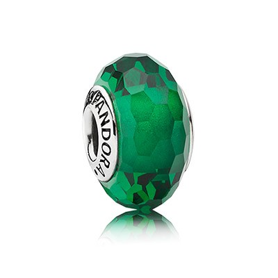Pandora Green Faceted Murano Charm