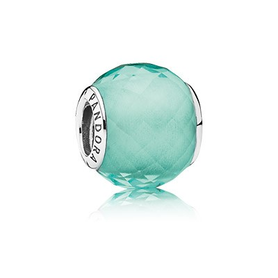 PANDORA Petite Facets, Synthetic Green Quartz