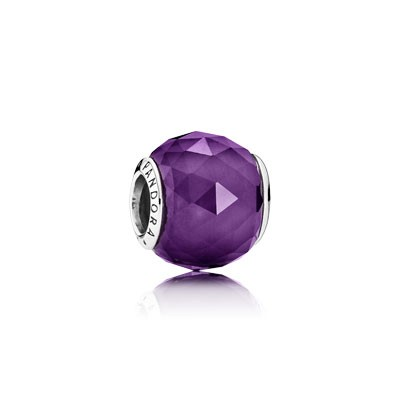 PANDORA Geometric Facets with Royal Purple Crystal Charm