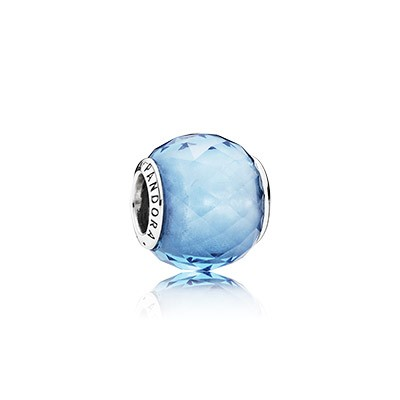 PANDORA Geometric Facets With Sky Blue Crystal Charm