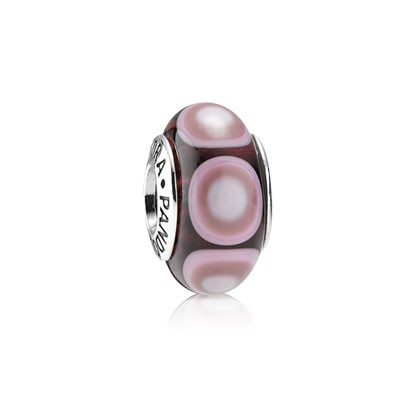 PANDORA Purple Glass Ripple Charm