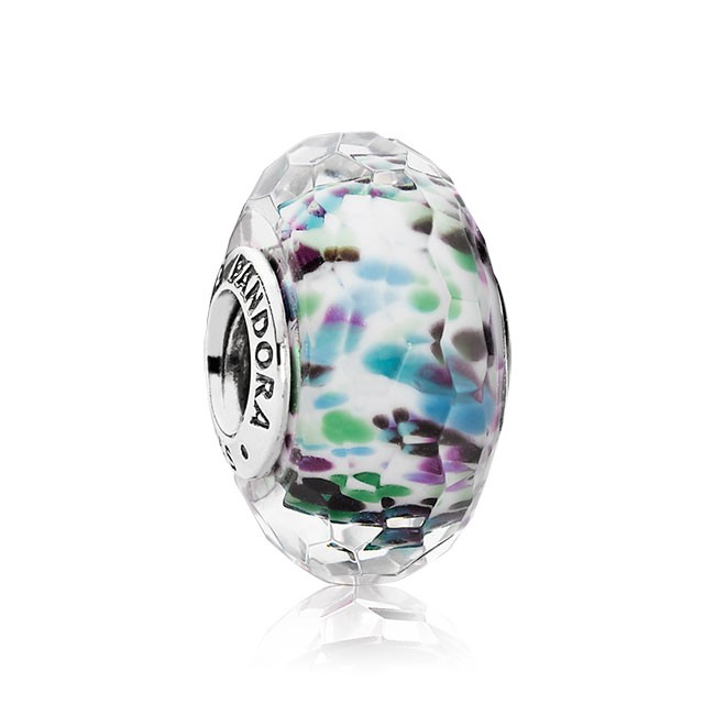 PANDORA Purple Sea Glass Fascinating Charm