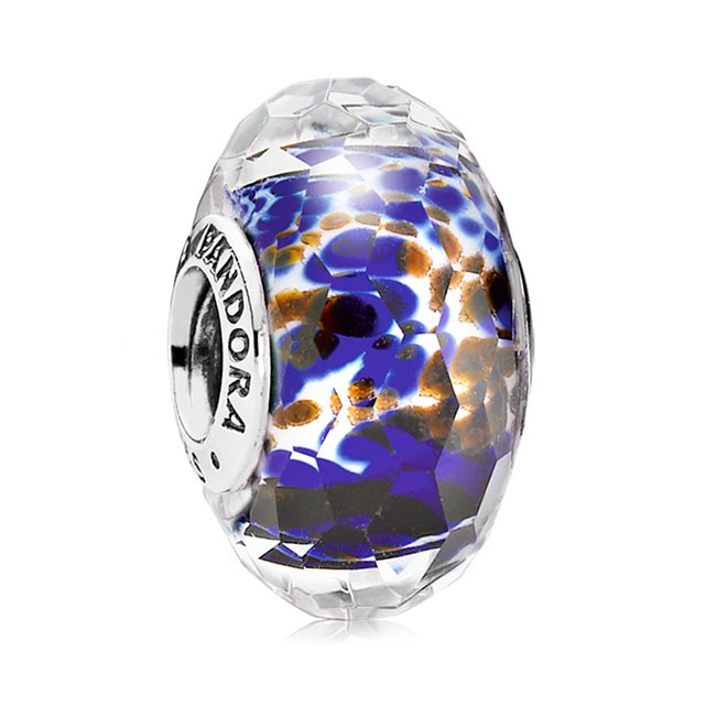 PANDORA Blue Sea Glass Fascinating Charm