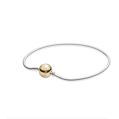 ESSENCE COLLECTION silver bracelet with 14k clasp
