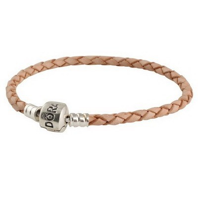 Pandora Melon Single Braided Leather Bracelet