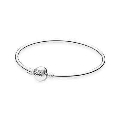 PANDORA Dainty Bow Moments Silver Bangle