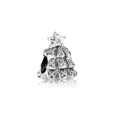 Pandora CLEAR CZ Tree Of Lights Charm Silver