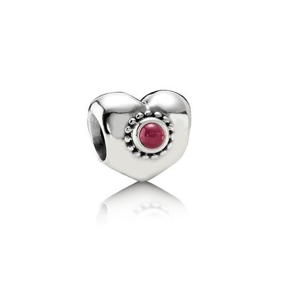 PANDORA Rhodolite Treasured Hearts Charm