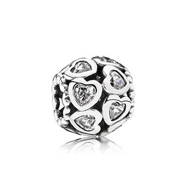 PANDORA Love All Around Clear CZ Openwork Charm