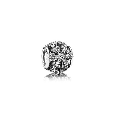 PANDORA Limited Edition Authentic Snowflake Black Friday Bead