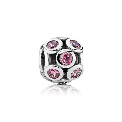 PANDORA Whimsical Lights with Pink CZ Charm