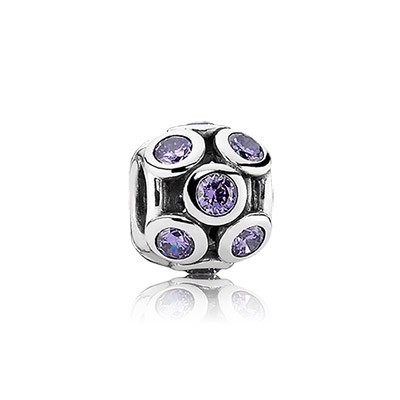 PANDORA Whimsical Lights with Purple CZ Openwork Charm