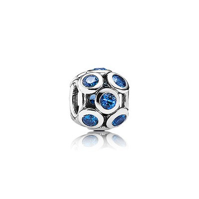 PANDORA Whimsical Lights with Blue CZ Openwork Charm