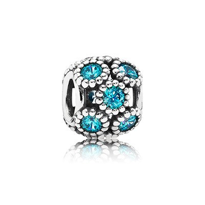 PANDORA Teal Studded Lights Openwork Charm