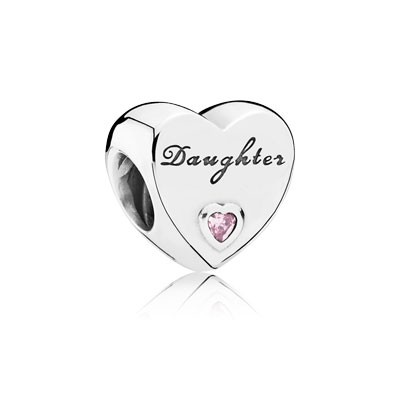 PANDORA Daughter\'s Love with Pink CZ Charm