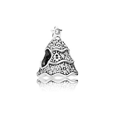 PANDORA Twinkling Christmas Tree With Clear CZ Charm
