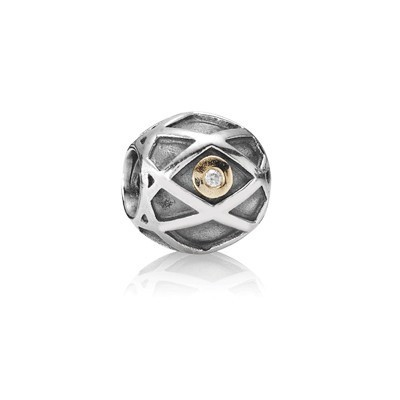 Pandora Gems and Silver Stripes YTIKE Charm