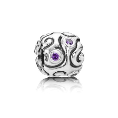 Pandora Purple Pattern Gems Bead Charm