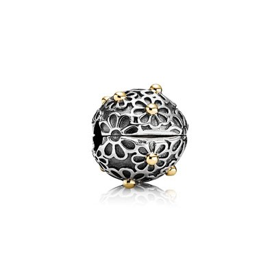 PANDORA Wind with Black CZ Clip