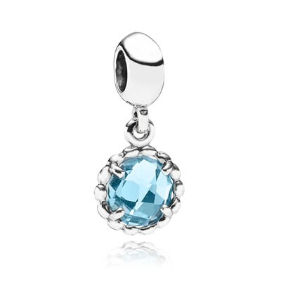 PANDORA Cool Breeze with Blue Topaz Dangle