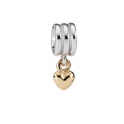 Hanging Heart Dangle Charm