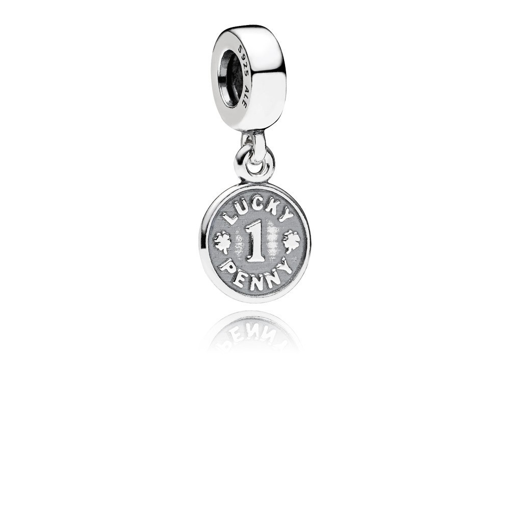 Lucky Penny Silver Dangle