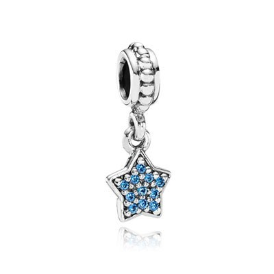 Pandora Blue Pave Star Charms