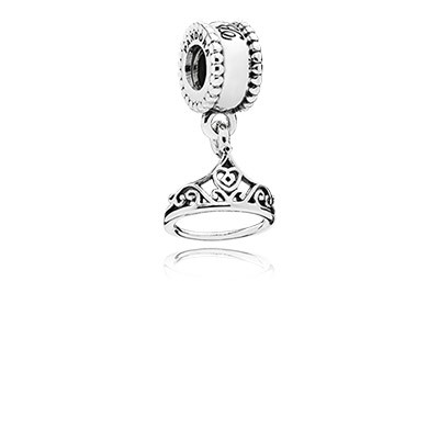 Disney Belle Tiara Silver Dangle Charm