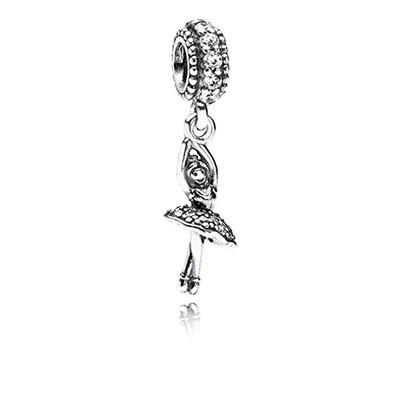PANDORA Ballerina with CZ Dangle