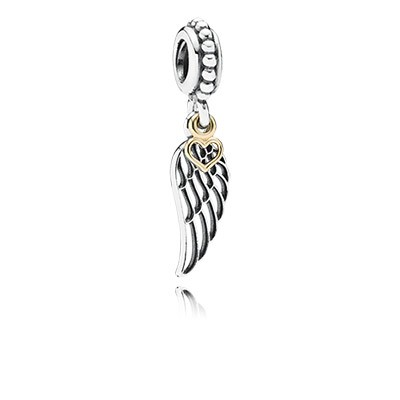 PANDORA Love and Guidance Wing with 14K Dangle