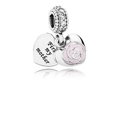 PANDORA Mother's Rose Dangle