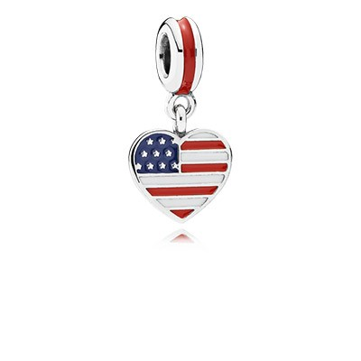 PANDORA Germany Heart Flag with Enamel Dangle