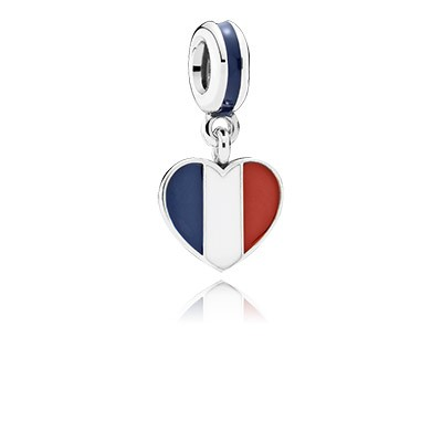 PANDORA Italy Heart Flag with Enamel Dangle