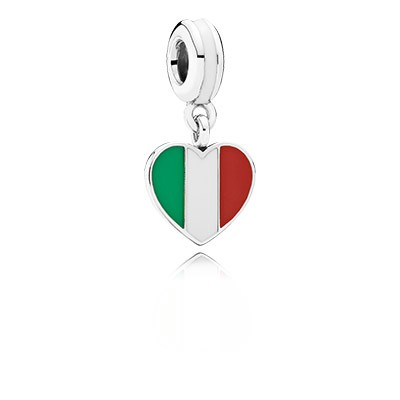 PANDORA Spain Heart Flag with Enamel Dangle