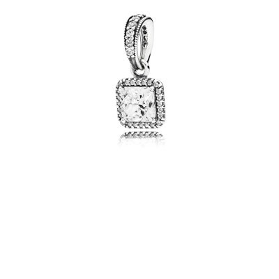 PANDORA Timeless Elegance with Clear CZ Pendant