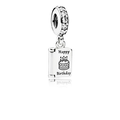 PANDORA Birthday Wishes with Clear CZ Dangle