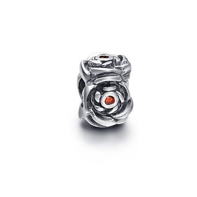 Pandora Red Crystal Flowers Bead Charm