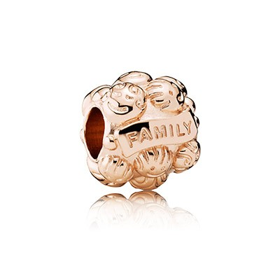 PANDORA Rose Colour Silver Family Charm
